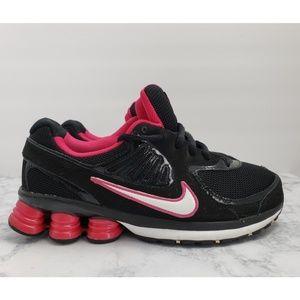 Nike Shox Girl's Youth Sneakers, Black & Pink 6.5Y